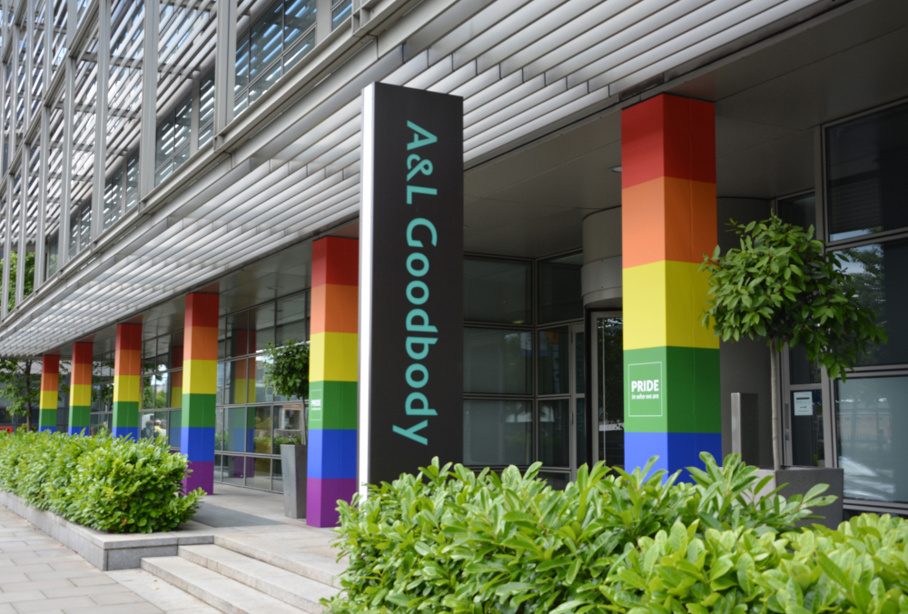 #InPictures: A&L Goodbody transforms office front ahead of Pride Week