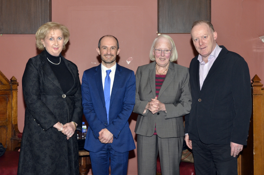 Judge Patricia Ryan, Professor Mark Bell, Ms Justice Mary Laffoy and Conor Lenihan