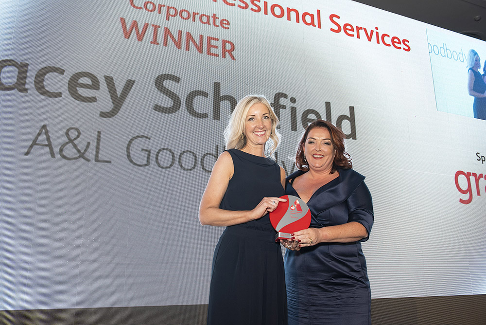 NI: #InPictures: A&L Goodbody partner Tracey Schofield claims prize at Women In Business Awards
