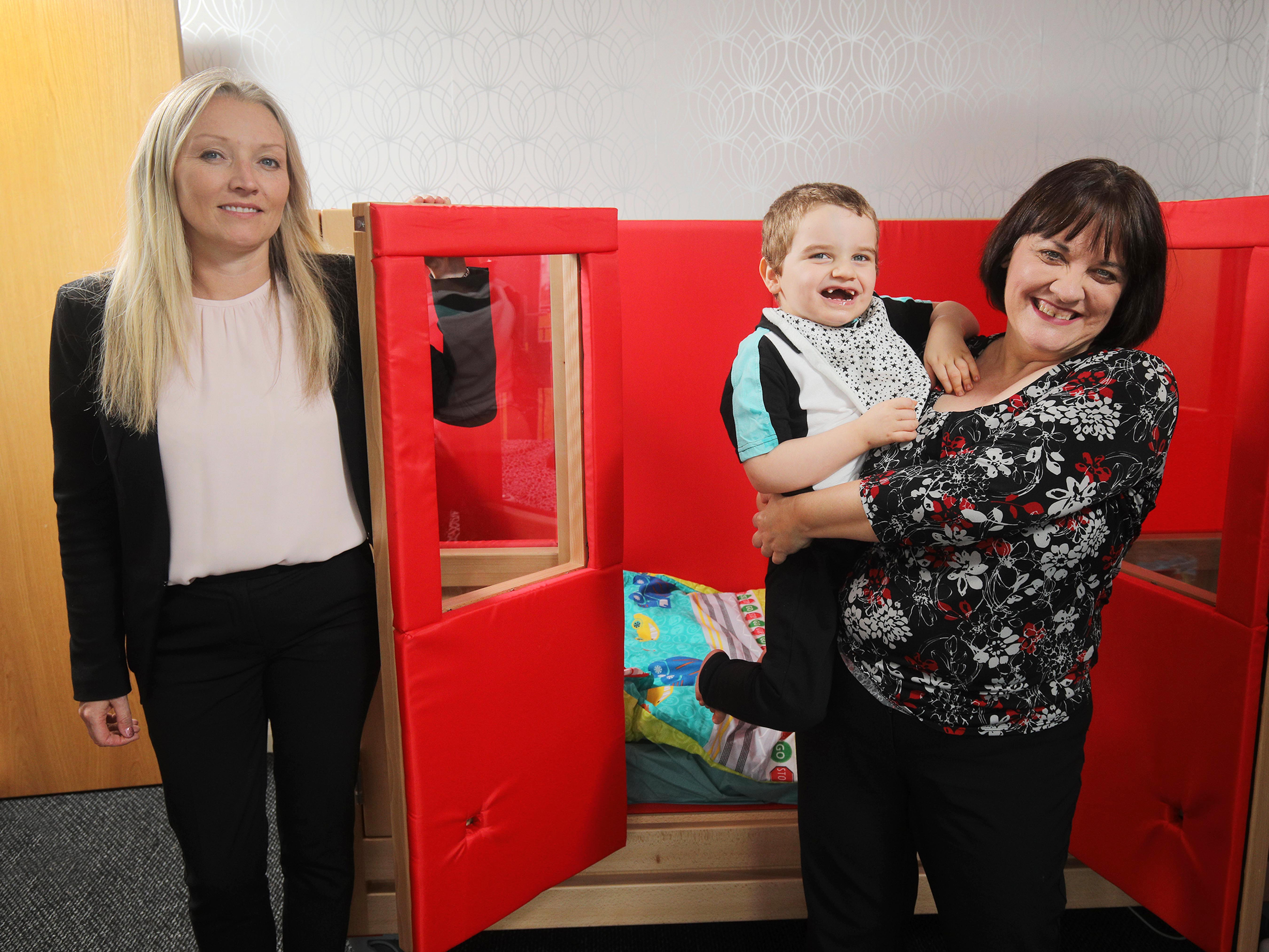 NI: DWF donates 'bed of dreams' to boy with rare neurological condition