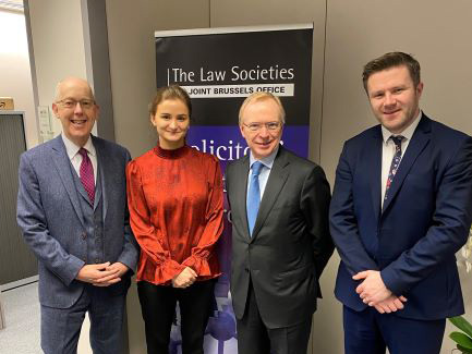 NI: #InPictures: Law Society officials travel to Brussels for rule of law talk