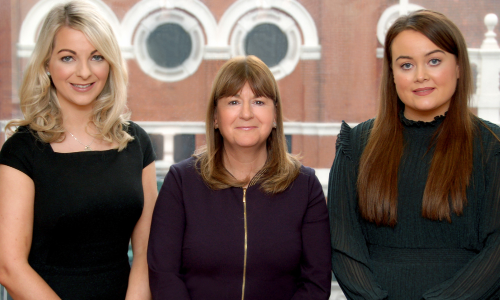 Karen Edwards, Anne Marie Kelly and Ainé Toner