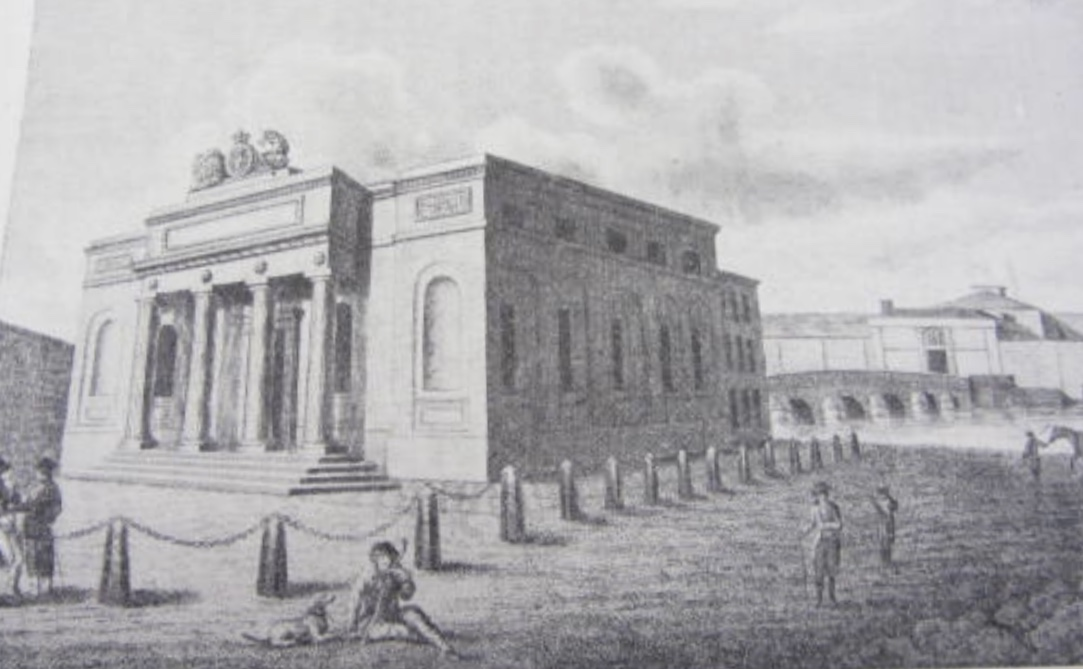 Sketch of Galway court house from James Hardiman's History of Galway (1820)