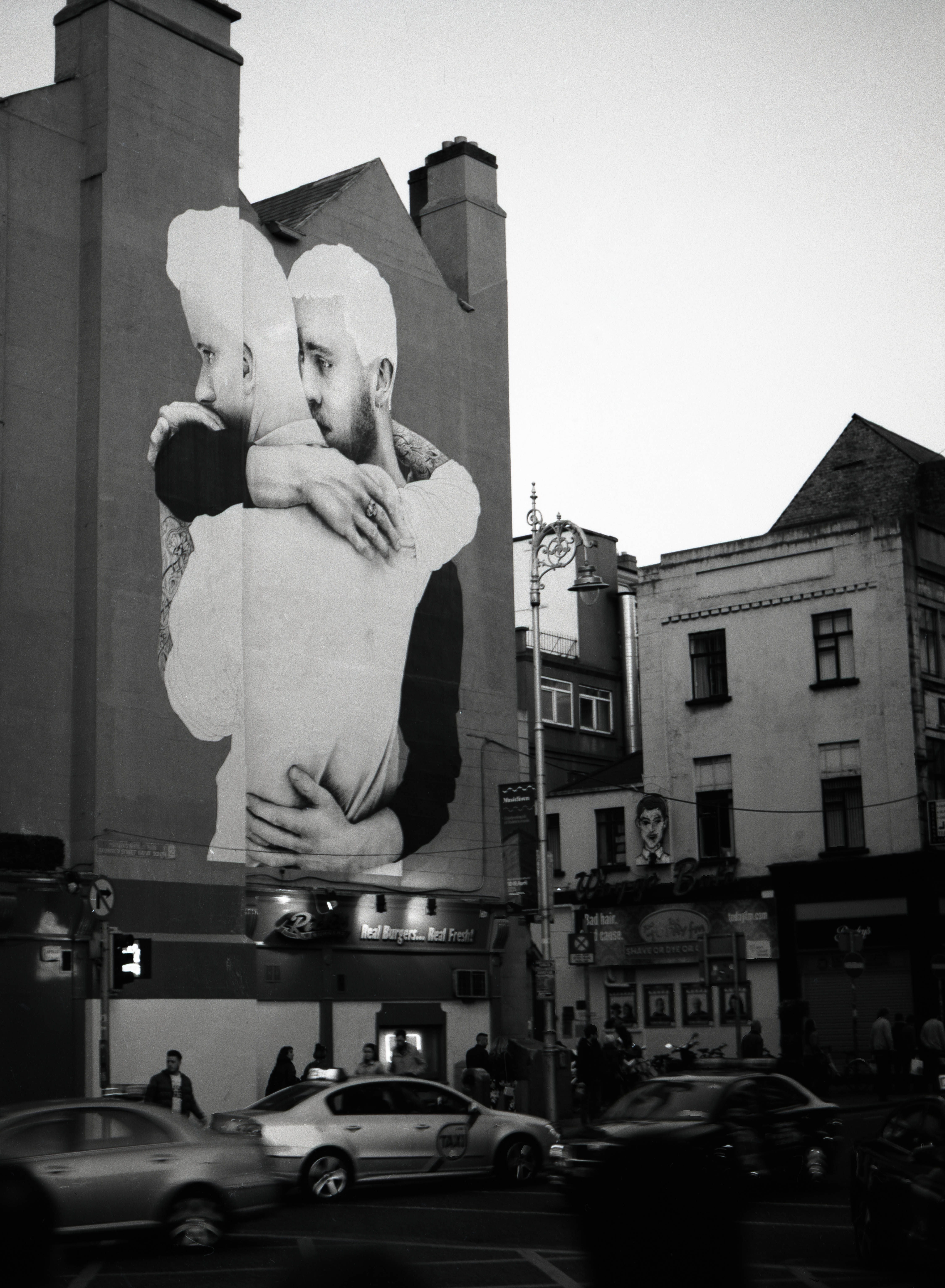 Mural by Joe Caslin in Dublin as part of the Yes Equality campaign