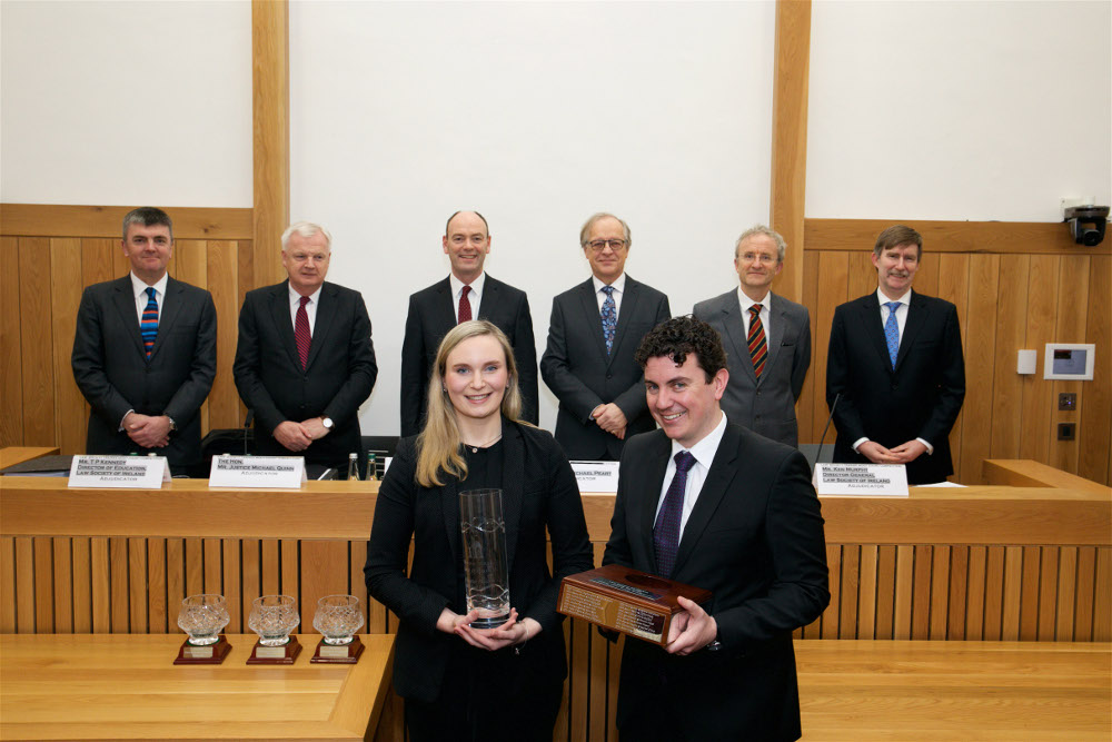 #InPictures: Darragh Bollard and Eamonn Butler win Law Society moot