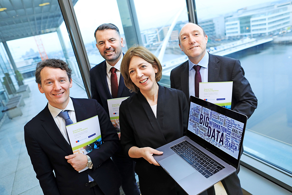 Mazars partner Liam McKenna, Graham Doyle of the Data Protection Commission, and McCann FitzGerald partners Fiona O'Beirne and Paul Lavery