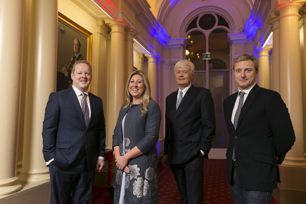 Diarmuid Mawe, Dr Mary Collins, Tom O'Connor and Jeremy White