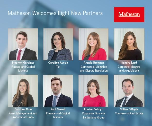 Matheson announces appointment of eight new partners