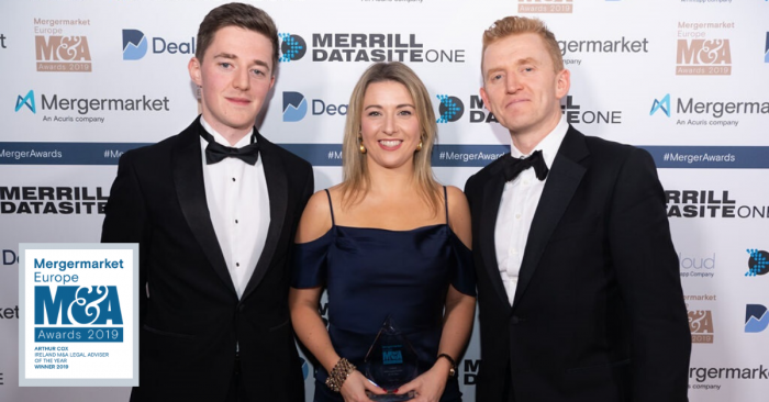 Associates Patrick Munnelly and Sinead Crowley, and London partner David Molloy
