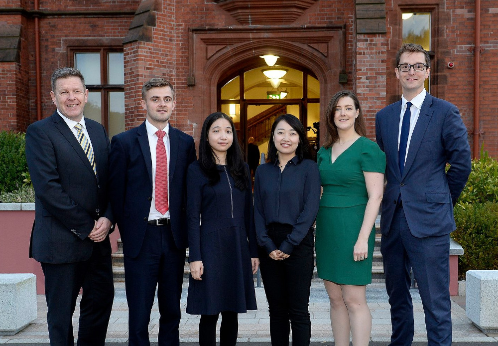 ALG's partner Mark Thompson and solicitor Tiernan McKeown; Chinese lawyers Chris Zhang and Teresa Yang; and ALG associates Sarah Dugdale and Jonny Hacking