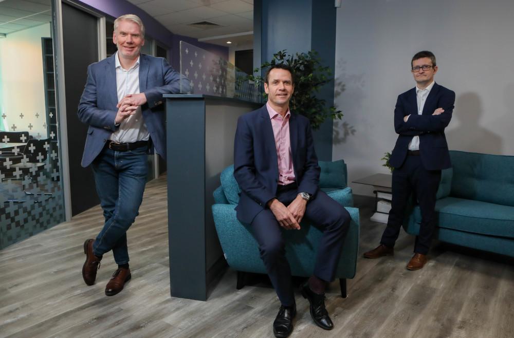 John Kerr, CEO of Kerr Henderson; Chris Ross, managing partner of McKees and Darren McDowell, senior partner at Harbinson Mulholland