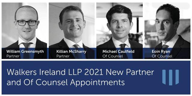 Walkers Ireland announces multiple senior lawyer promotions