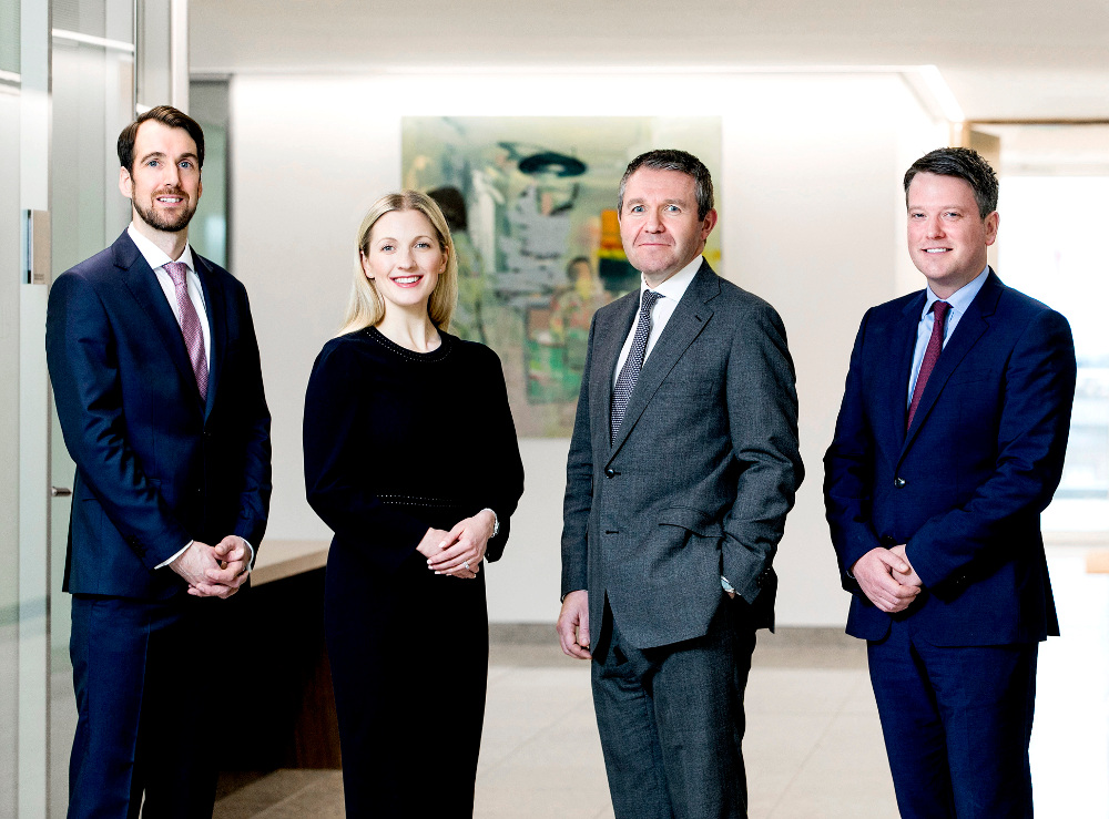 Brendan Wallace, Imelda Shiels, managing partner Geoff Moore and Ryan Ferry