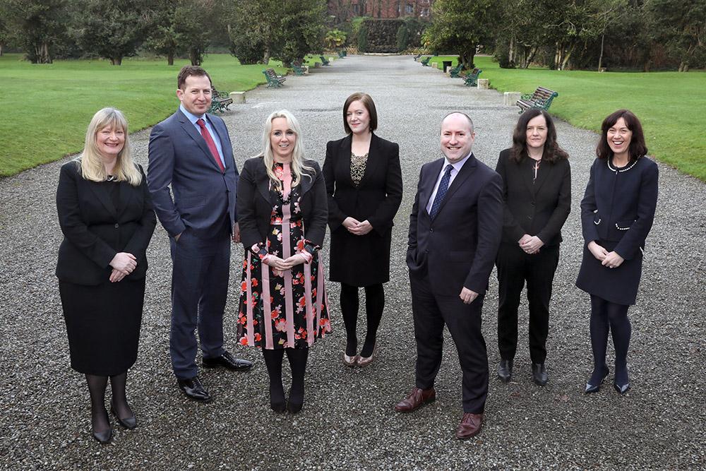 Partners Nessa O'Roarty, Garrett Cormican, Audrey McGinley, Sinead Connolly, Seamus White, Anne Staunton and Olivia Treston
