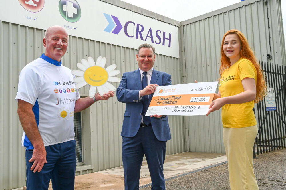 NI: JMK Solicitors raises £13,000 for children's cancer charity