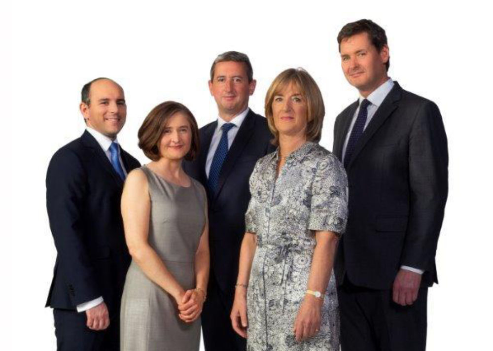 Shane Coveney, Kelly O'Hara, Mark Thorne, Fiona O'Neill and Donnacha O'Connor