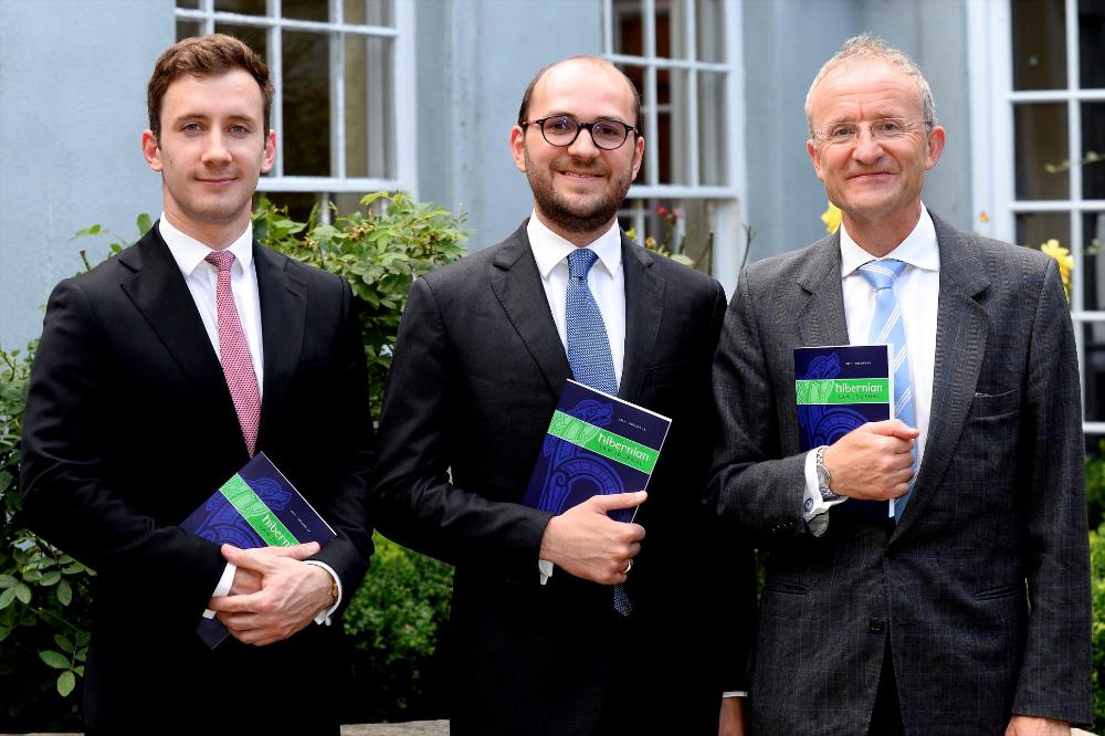Mr Justice Twomey with Ciarán Donohue and Riccardo Savona Siemens