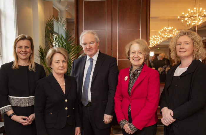 Pictured from left: Sarah Ramsey BL, Chair of The Bar of Northern Ireland, Ms Justice Finlay Geoghegan, The Supreme Court of Ireland, Sir Declan Morgan, Lord Chief Justice, Lady Arden, The Supreme Court and Karen Quinlivan QC, Chair of The Equality and Diversity Committee