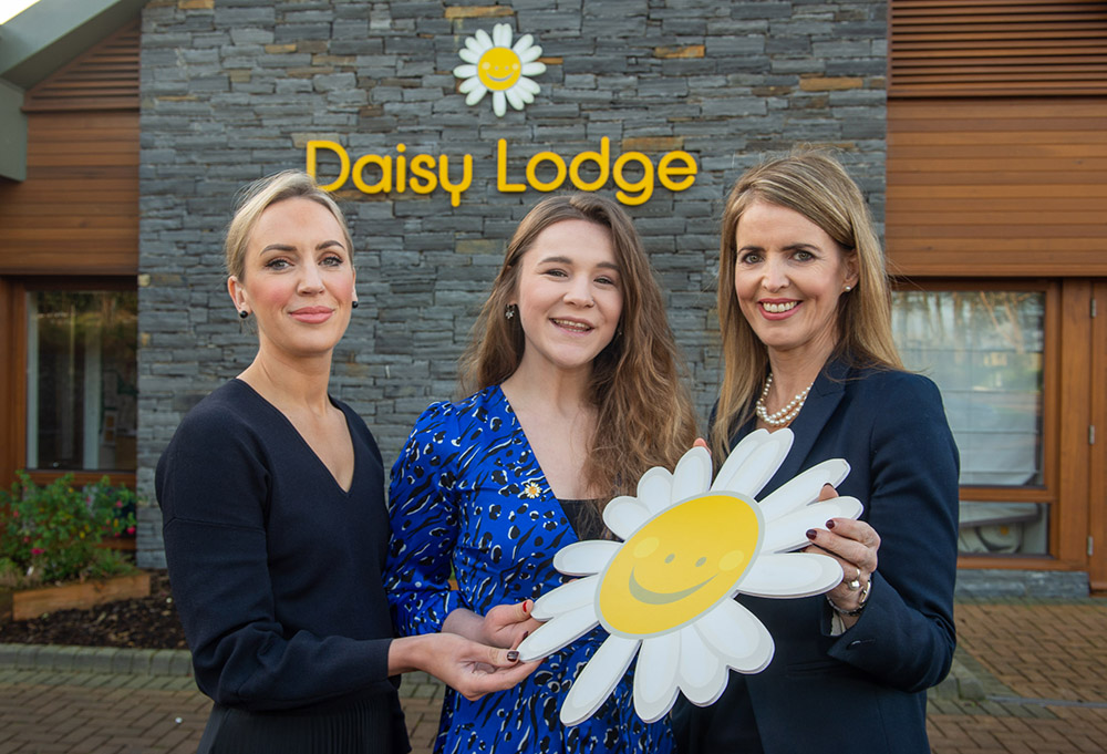 JMK Solicitors legal services director Olivia Meehan and managing partner Maurece Hutchinson with Cancer Fund for Children corporate fundraiser Alex Murdock