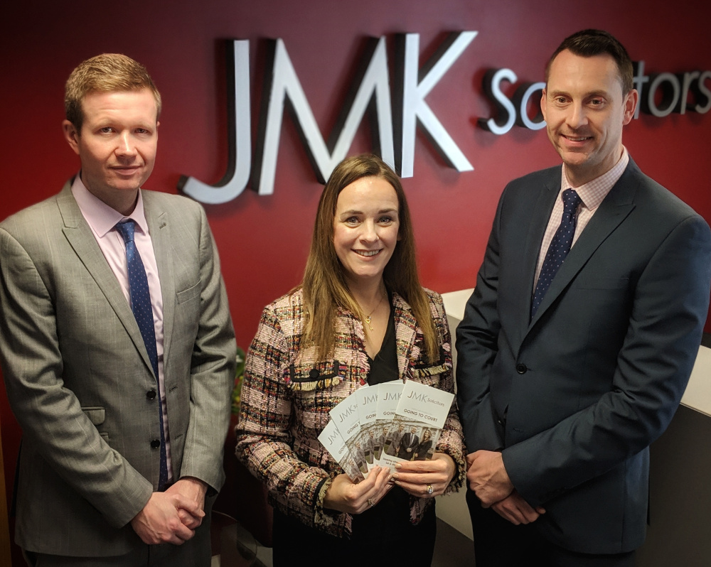 Solicitor Andrew Moore, litigation co-ordinator Marie-Claire Meehan and solicitor Paul O'Brien