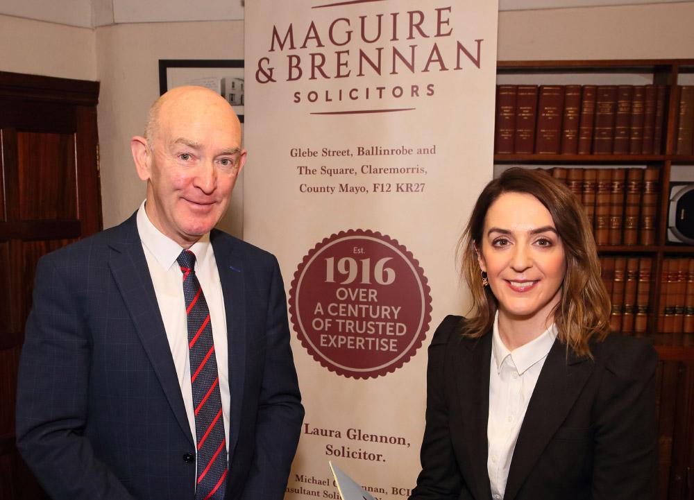 Michael Brennan and Laura Glennon