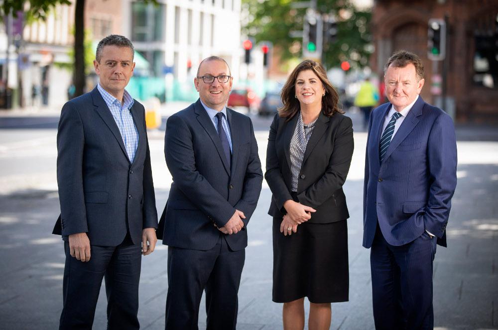 Partner Damian McParland, Christopher McCandless, Partner Caroline Prunty and Managing Partner Peter McCall