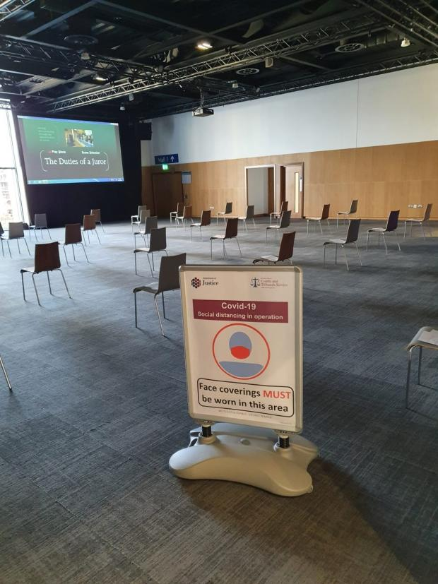 NI: Courts service extends contract for 'Nightingale venue' at ICC Belfast until June
