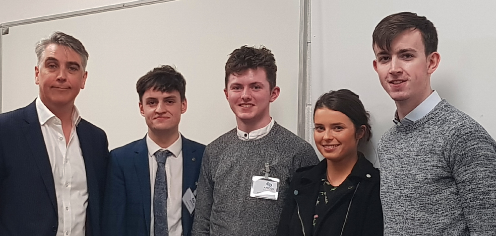 Gavin Simons with Loughlin Russell, Patrick McWalter, Emma Rowe and Cian Maher