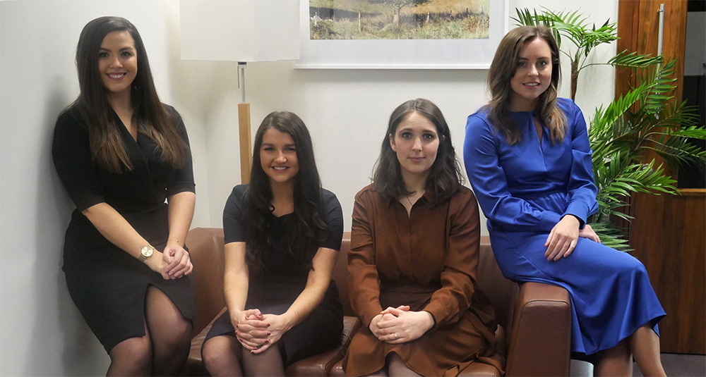 Megan Gilroy, Rachel McCausland, Margaret O'Leary and Rebecca Clabby