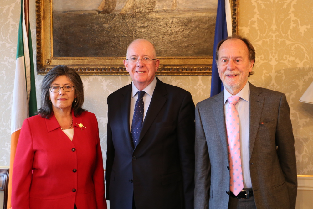 Josephine Feehily, Justice Minister Charlie Flanagan and Bob Collins