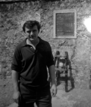 Seán Moore at a visit to the Edentubber Martyrs' Memorial in County Down in 1966