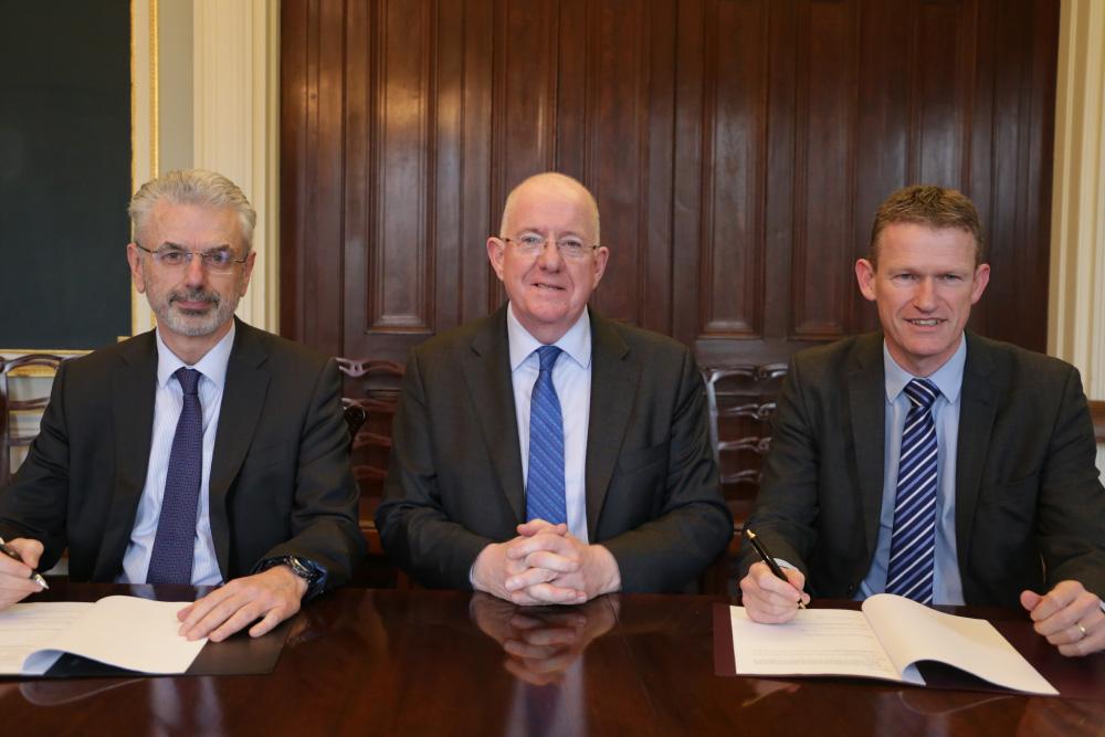 Aidan O'Driscoll, Charlie Flanagan and Padraig Dalton