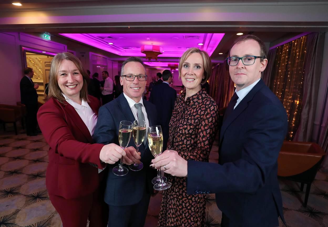 Partners Kathy McGillie, Michael McCord, Anna Beggan and Fearghal O'Loan