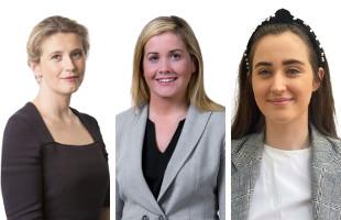Laura Scott, Colette Brady and Sophie Delaney