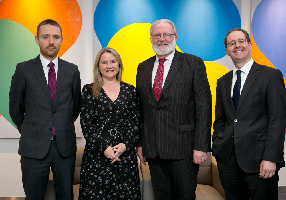 Ian Devlin, head of pensions at William Fry; Catherine O'Flynn, head of employment and benefits at William Fry; Derek Bell, COO at the Retirement Planning Council (RPC); and Jeff Greene, partner at William Fry